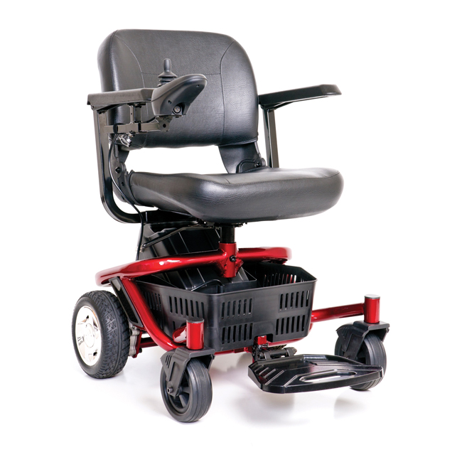 Golden LiteRider Envy Power Transport Chair with Quick Release Transaxle